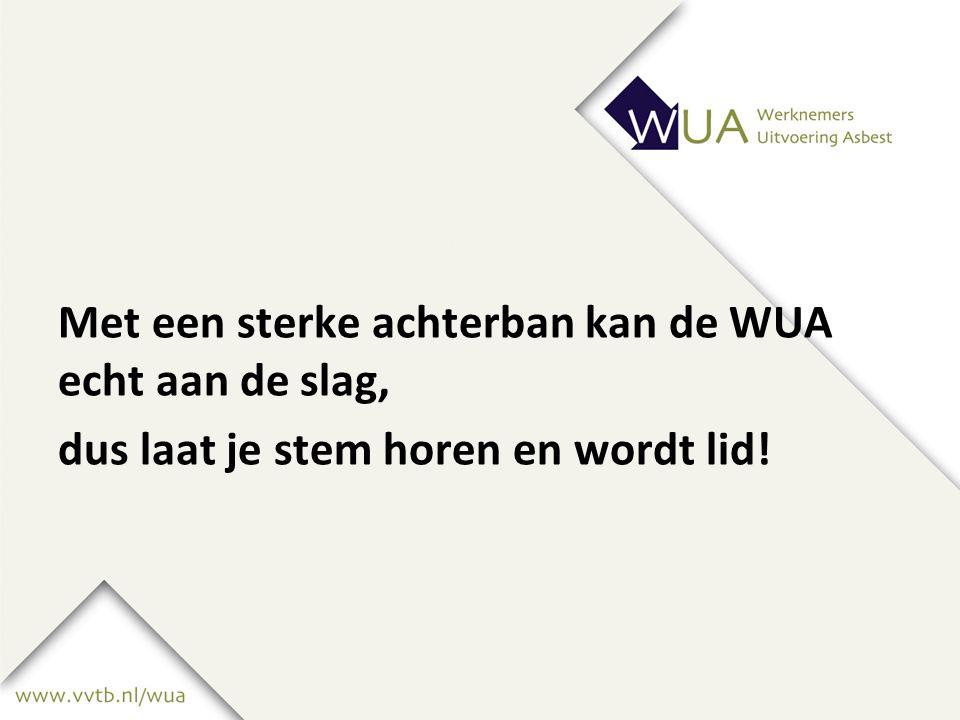 Met een sterke achterban kan de WUA echt aan de slag, dus laat je stem horen en wordt lid!