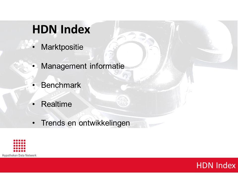 HDN Index Marktpositie Management informatie Benchmark Realtime Trends en ontwikkelingen