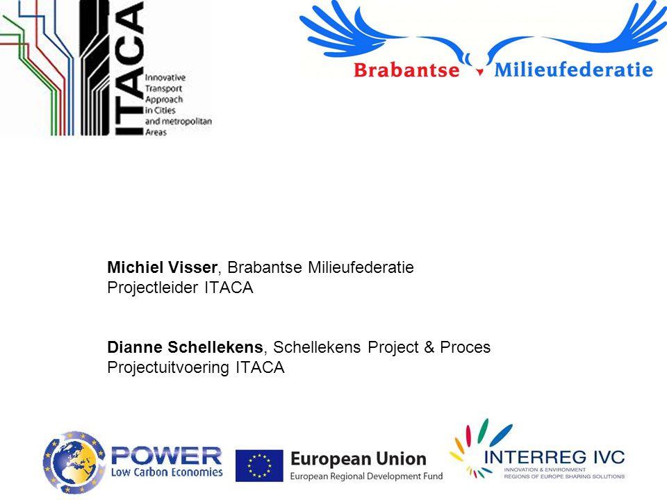 Michiel Visser, Brabantse Milieufederatie Projectleider ITACA Dianne Schellekens, Schellekens Project & Proces Projectuitvoering ITACA