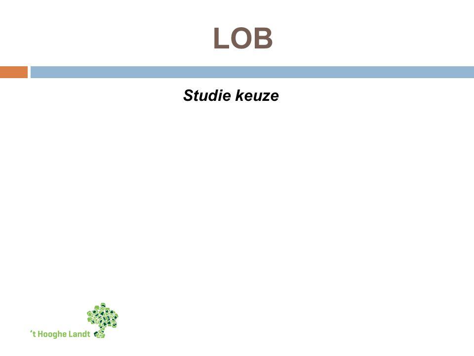 LOB Studie keuze
