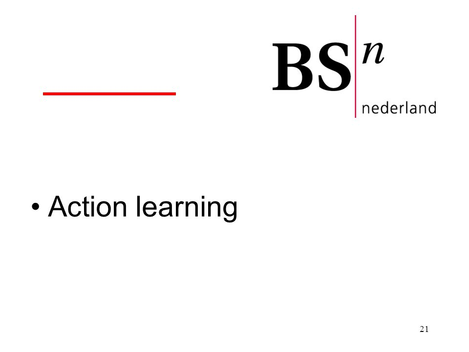 21 Action learning