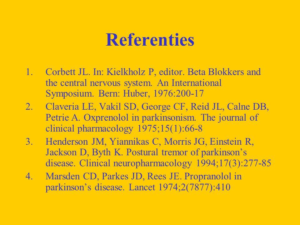 Referenties 1.Corbett JL. In: Kielkholz P, editor.