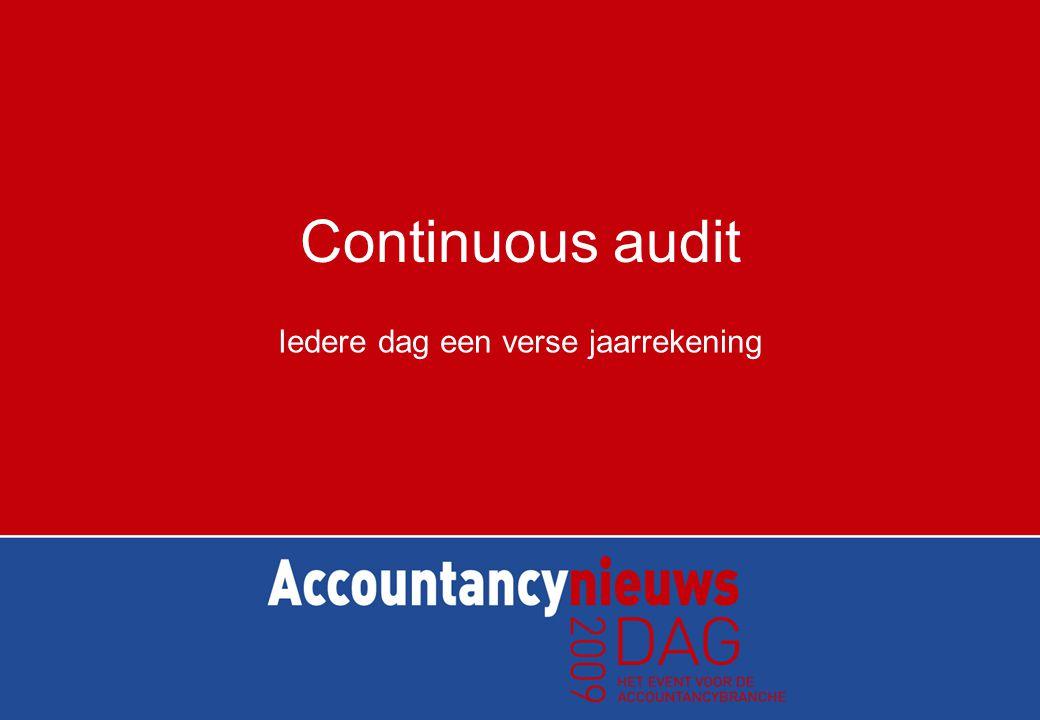 Continuous audit Intern beheersingsrisico is het risico dat een onjuistheid die voorkomt in een bewering en die, afzonderlijk of samen met andere onjuistheden van materieel belang kan zijn, niet wordt voorkomen of tijdig ontdekt en hersteld door de interne beheersingsmaatregelen van de huishouding.