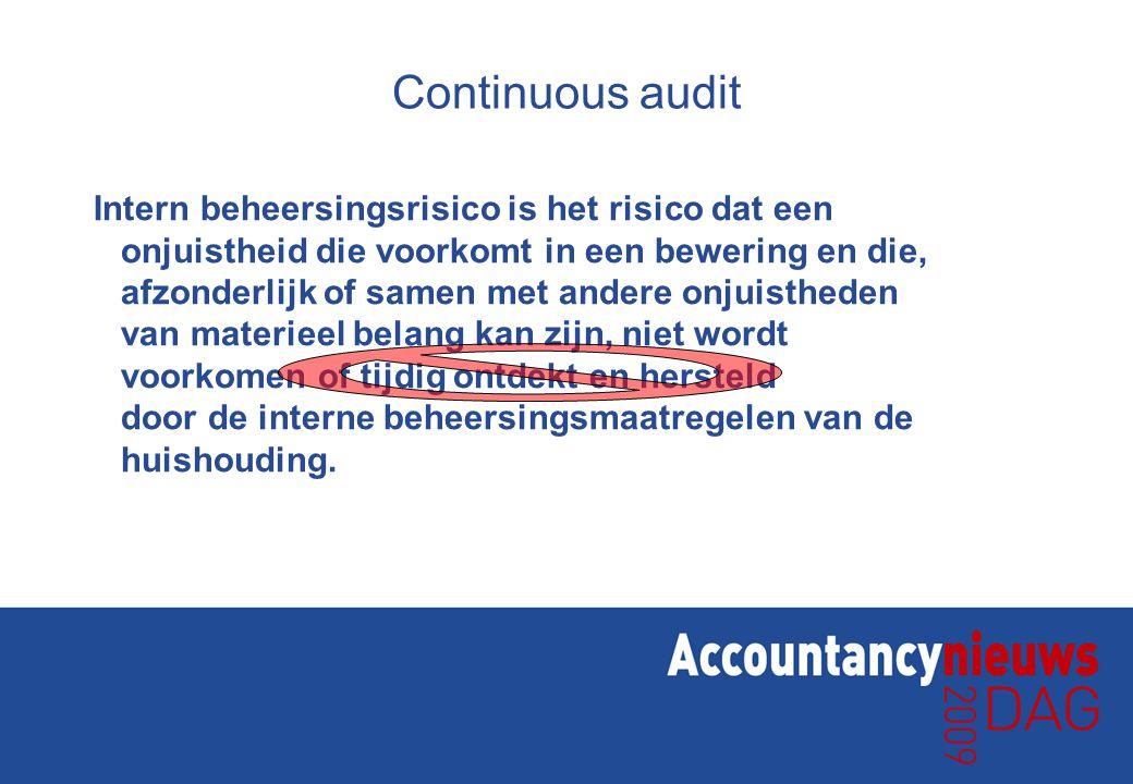 Continuous audit? TransactieUitzondering 25x