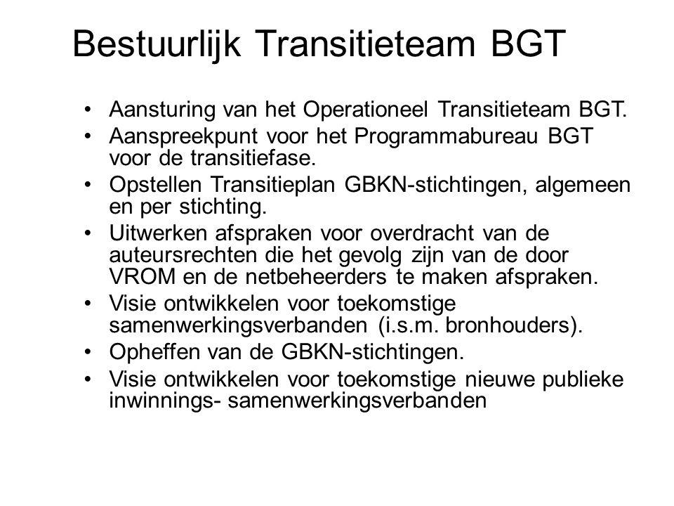19 22-7-2014 Basisregistratie Grootschalige Topografie Aansturing van het Operationeel Transitieteam BGT. Aanspreekpunt voor het Programmabureau BGT v