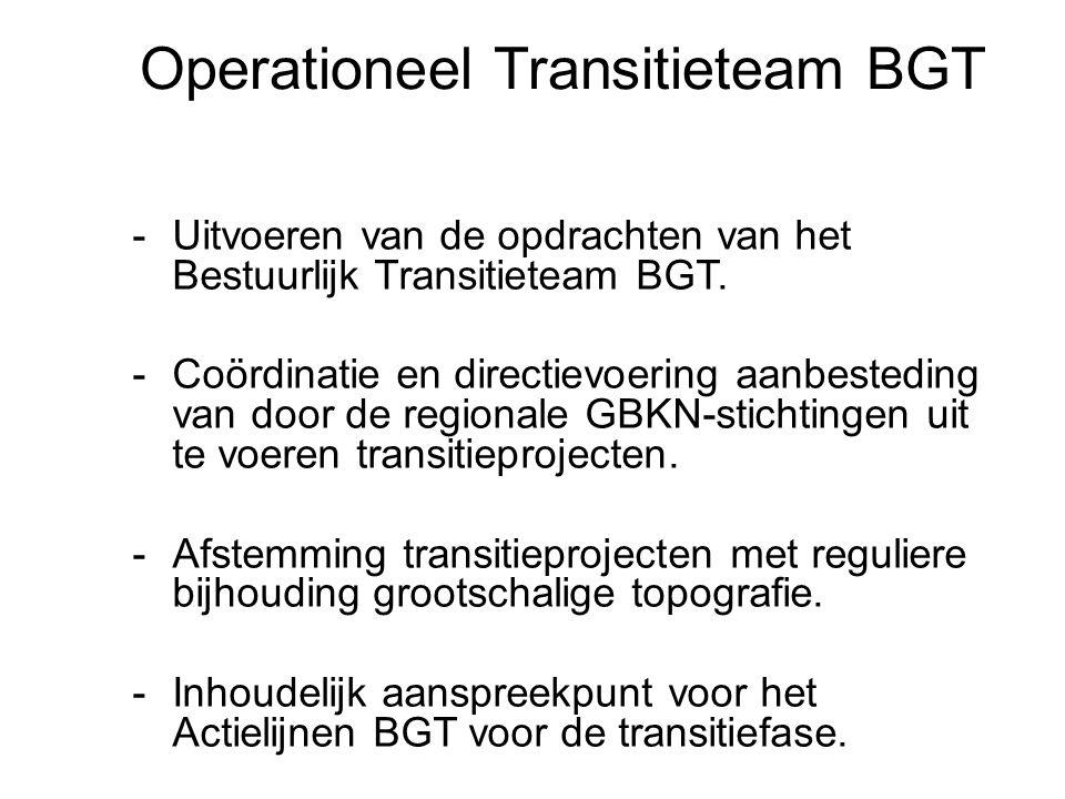 20 22-7-2014 Basisregistratie Grootschalige Topografie -Uitvoeren van de opdrachten van het Bestuurlijk Transitieteam BGT. -Coördinatie en directievoe