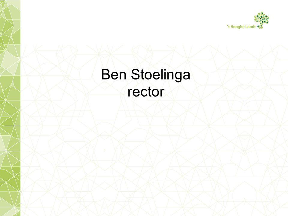 Ben Stoelinga rector