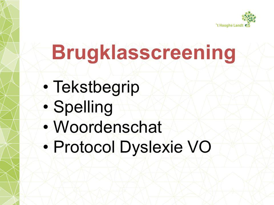 Brugklasscreening Tekstbegrip Spelling Woordenschat Protocol Dyslexie VO