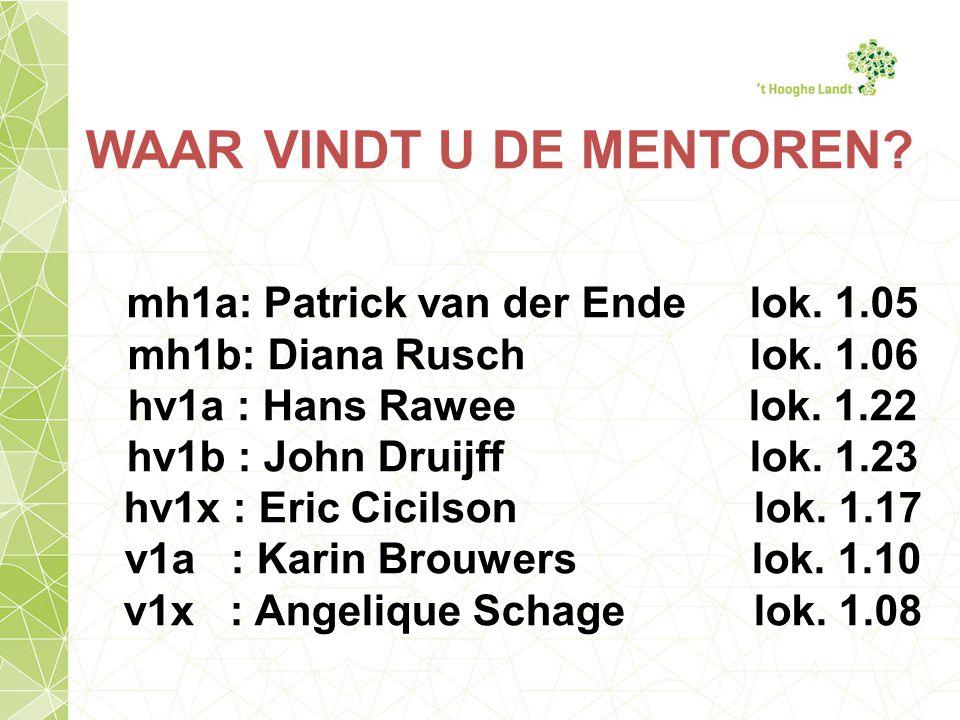 WAAR VINDT U DE MENTOREN.mh1a: Patrick van der Ende lok.