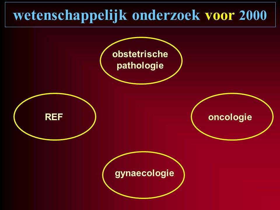 wetenschappelijk onderzoek voor 2000 gynaecologie oncologie obstetrische pathologie REF