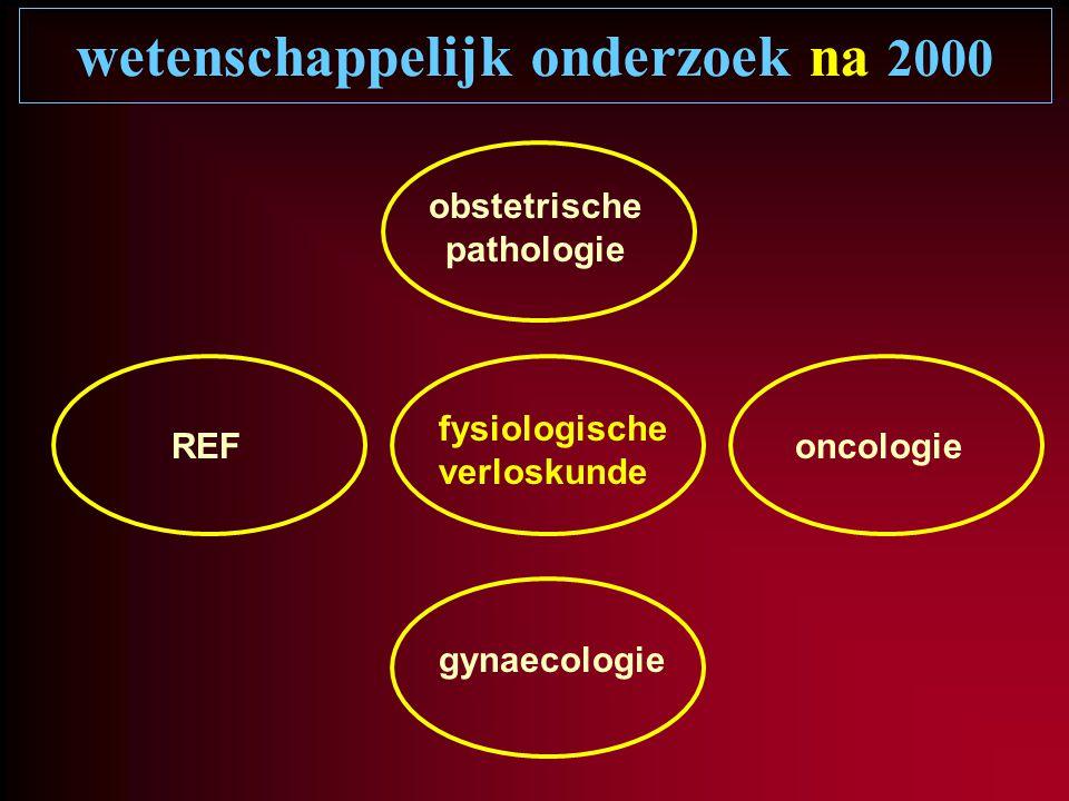 wetenschappelijk onderzoek na 2000 gynaecologie oncologie obstetrische pathologie REF fysiologische verloskunde