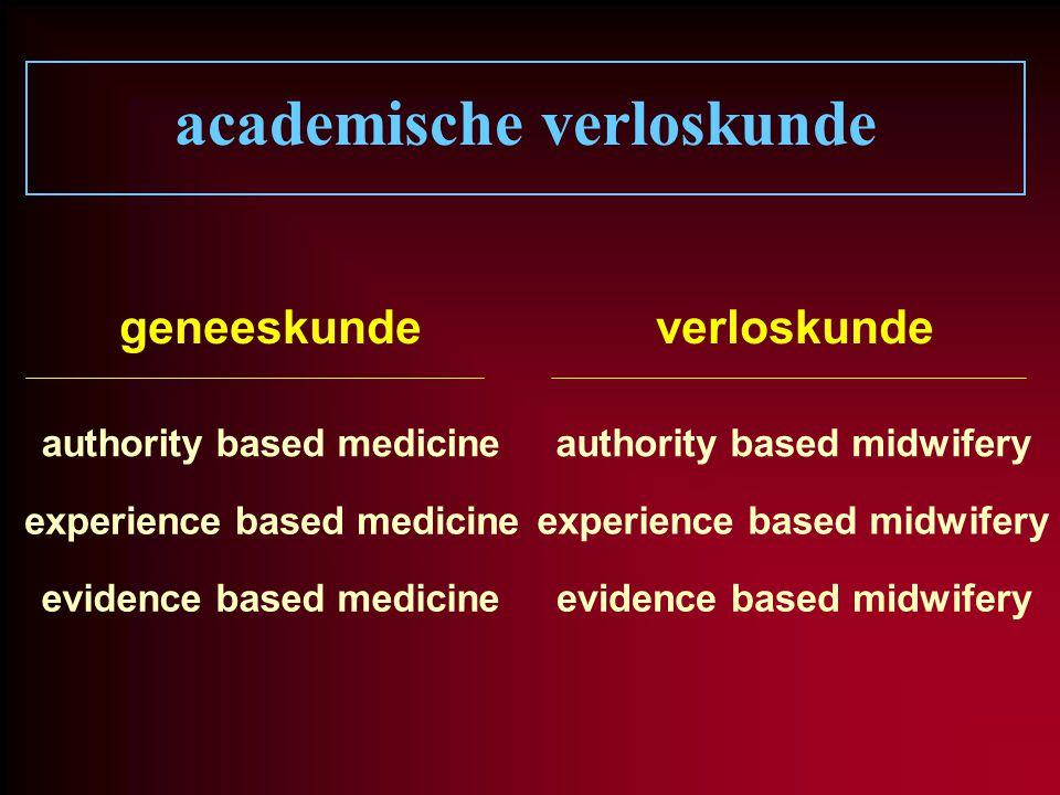 academische verloskunde geneeskundeverloskunde authority based medicineauthority based midwifery experience based medicine experience based midwifery