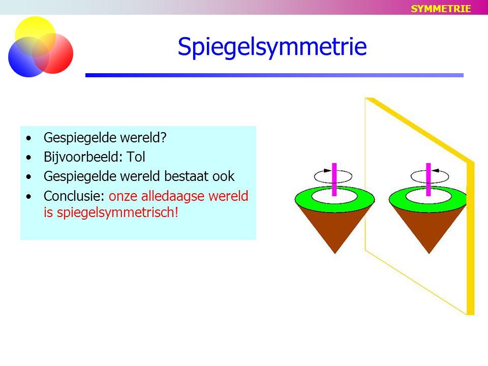 Spiegelsymmetrie Gespiegelde wereld.