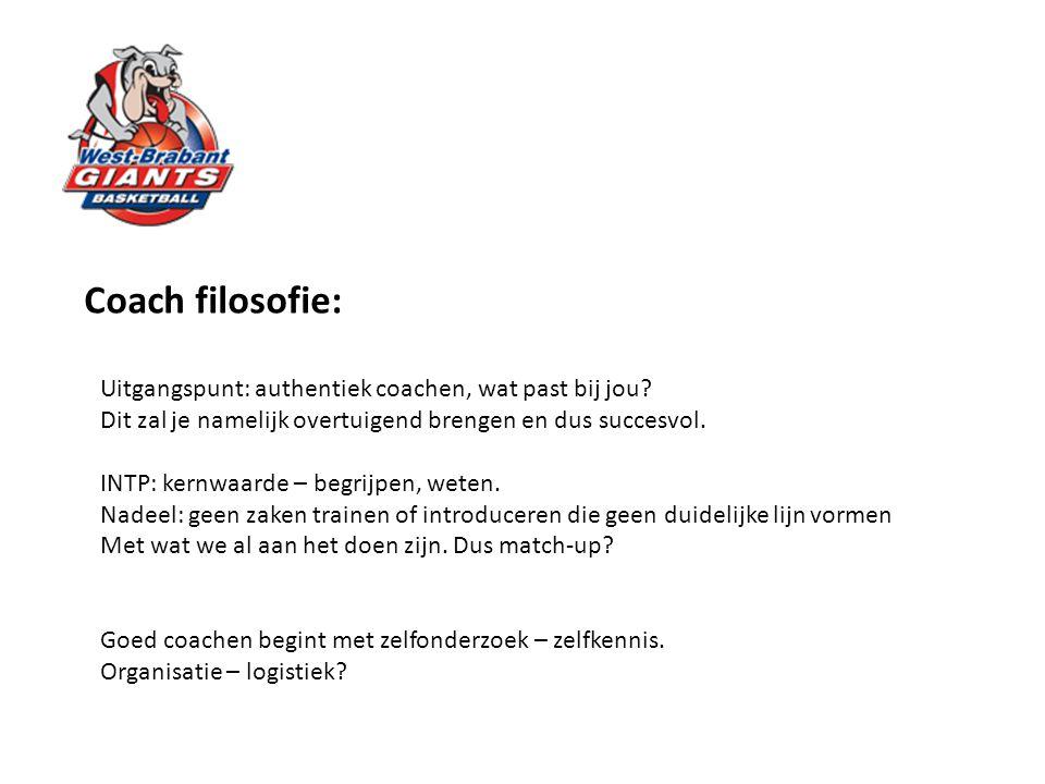 Coach filosofie: Uitgangspunt: authentiek coachen, wat past bij jou? Dit zal je namelijk overtuigend brengen en dus succesvol. INTP: kernwaarde – begr