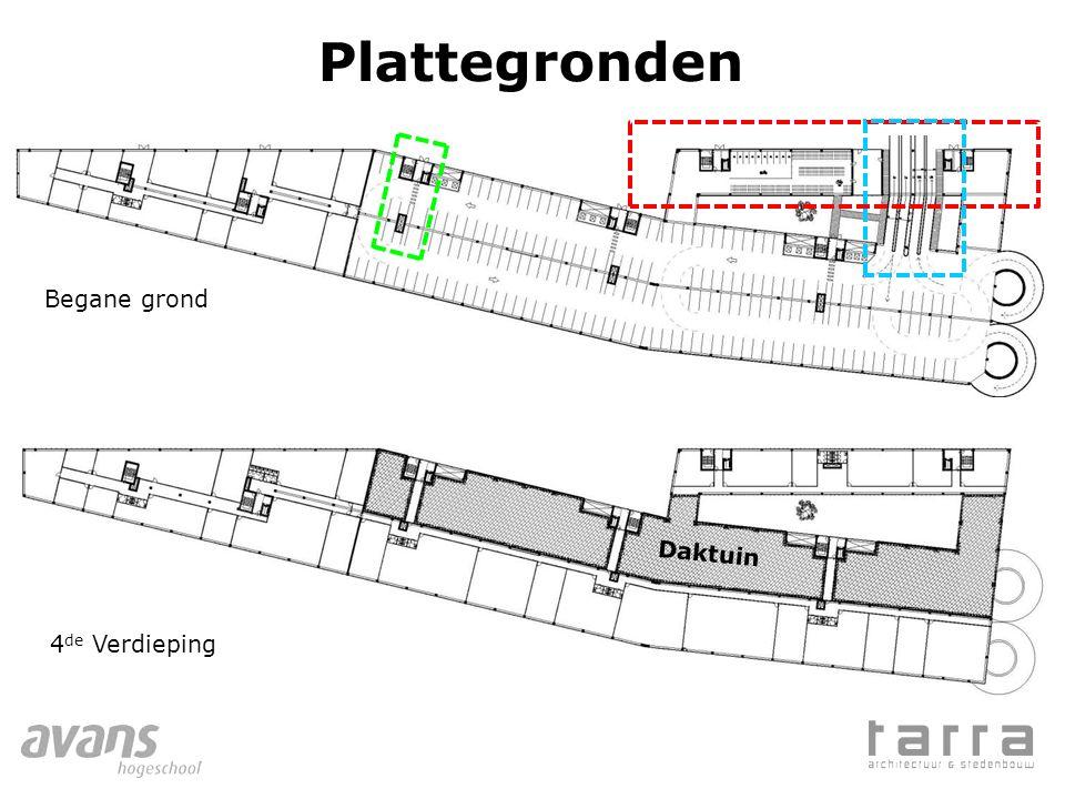 Plattegronden Begane grond 4 de Verdieping Daktuin
