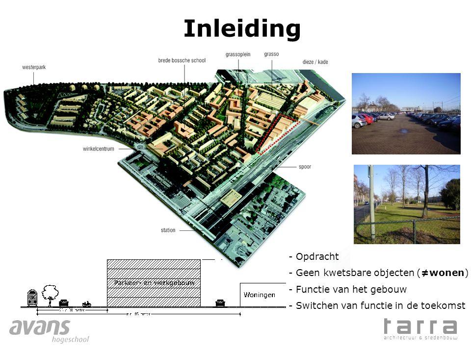 Inleiding - Opdracht - Geen kwetsbare objecten (≠wonen) - Functie van het gebouw - Switchen van functie in de toekomst
