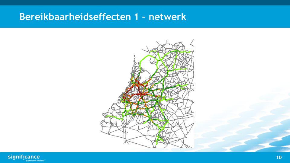 Bereikbaarheidseffecten 1 – netwerk 10