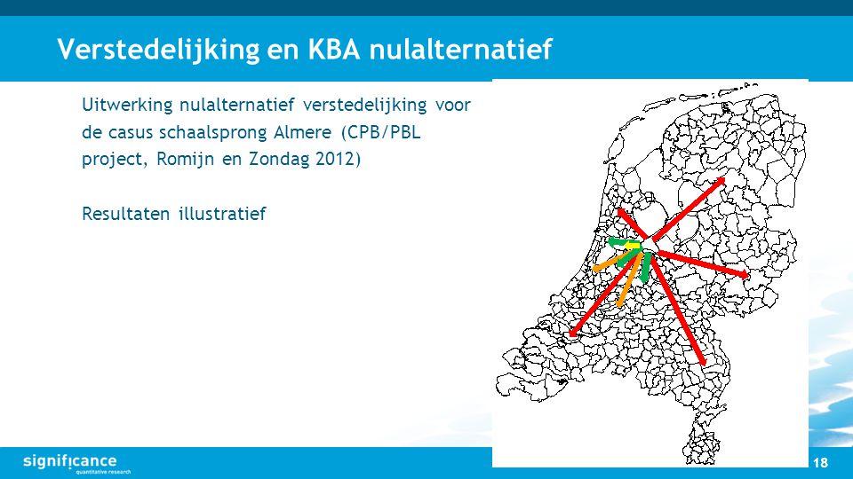 Verstedelijking en KBA nulalternatief Uitwerking nulalternatief verstedelijking voor de casus schaalsprong Almere (CPB/PBL project, Romijn en Zondag 2
