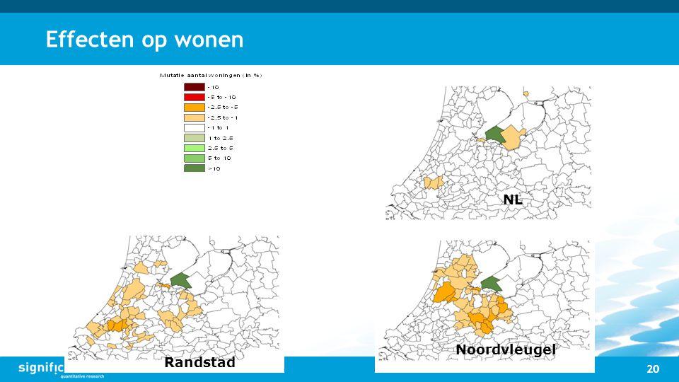 Effecten op wonen 20 NL Randstad Noordvleugel