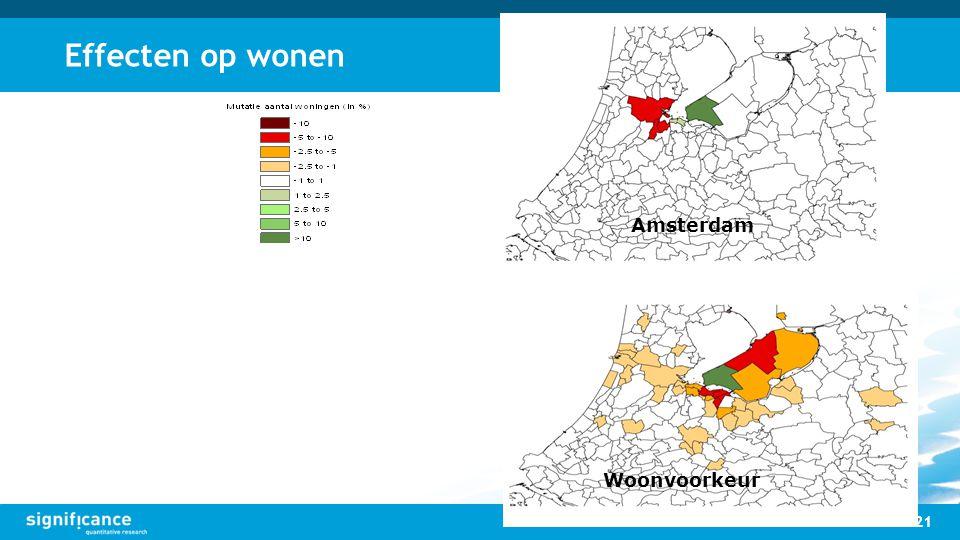 Effecten op wonen 21 Amsterdam Woonvoorkeur