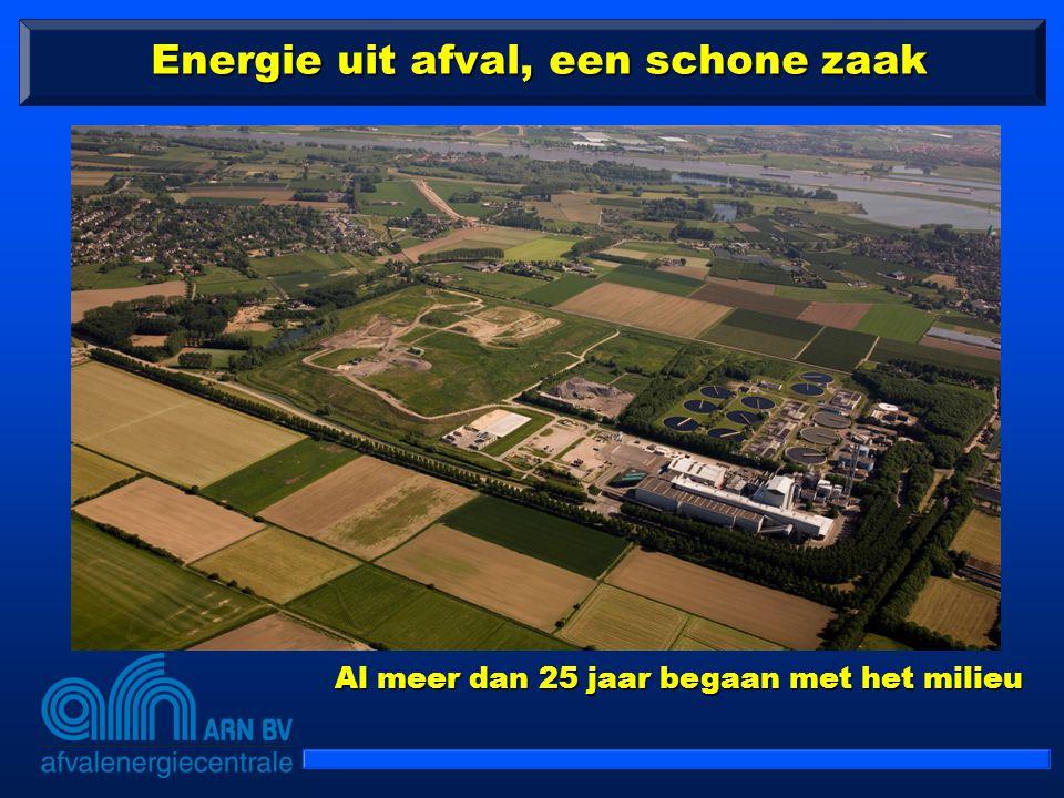Energie uit afval, een schone zaak Al meer dan 25 jaar begaan met het milieu