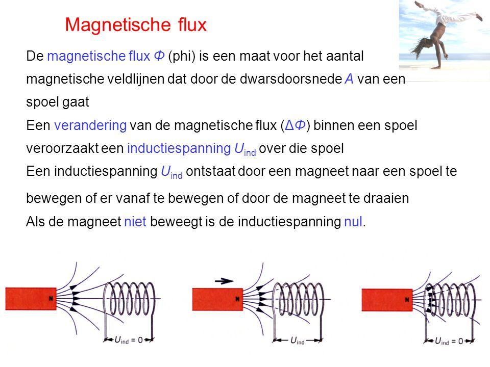 Transformator Voor het hoger en lager maken van een wisselspanning gebruiken we een transformator Een transformator bestaat uit: primaire spoel secundaire spoel gesloten weekijzeren kern In de primaire spoel wordt een voortdurend wisselend magnetisch veld opgewekt door de wisselspanning Via de weekijzeren kern wordt dit magnetisch veld gevoeld door de secundaire spoel, in deze spoel ontstaat weer een inductie(wissel)spanning Afhankelijk van het aantal windingen van de spoelen kan de spanning omhoog of omlaag getransformeerd worden