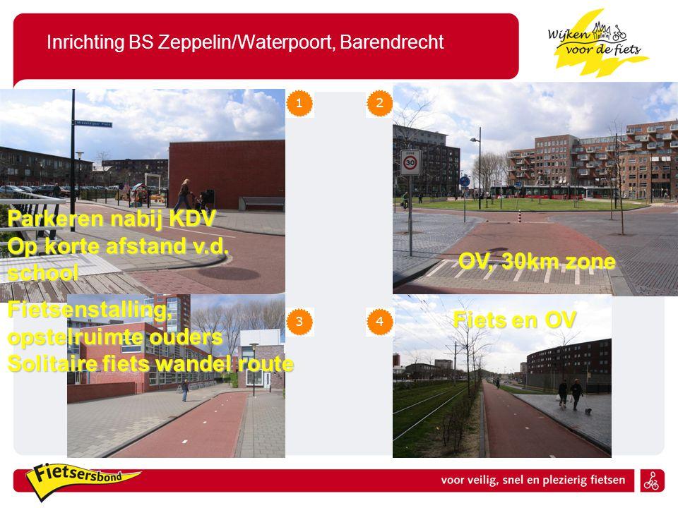Inrichting BS Zeppelin/Waterpoort, Barendrecht Fietsenstalling, opstelruimte ouders Solitaire fiets wandel route Parkeren nabij KDV Op korte afstand v