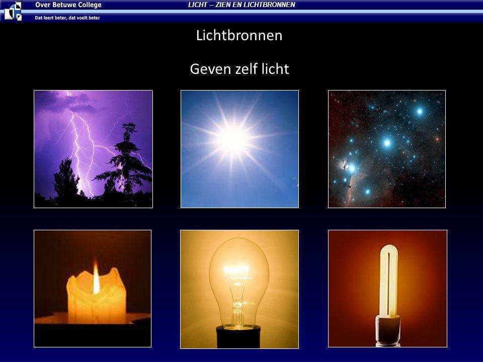 LICHT – ZIEN EN LICHTBRONNEN Welk plaatje is een natuurlijke of kunstmantig lichtbron.