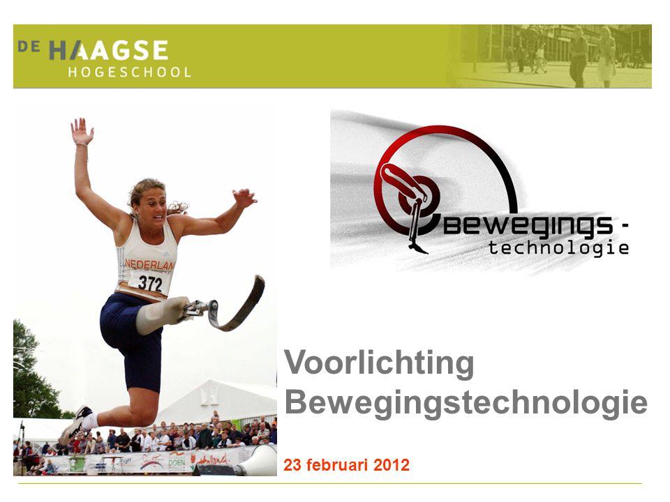 Voorlichting Bewegingstechnologie 23 februari 2012