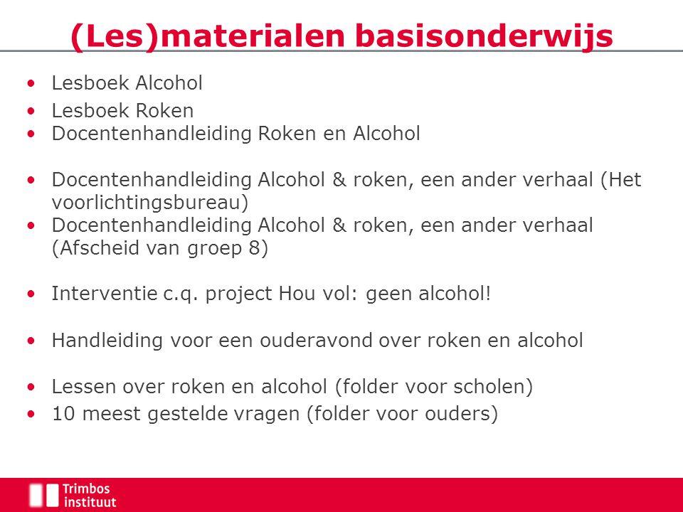 Lesboek Alcohol Lesboek Roken Docentenhandleiding Roken en Alcohol Docentenhandleiding Alcohol & roken, een ander verhaal (Het voorlichtingsbureau) Do