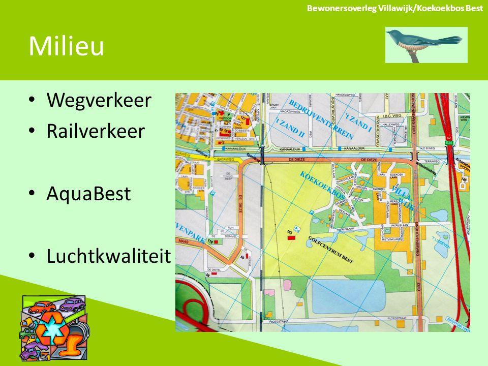 Milieu Bewonersoverleg Villawijk/Koekoekbos Best Wegverkeer Railverkeer AquaBest Luchtkwaliteit