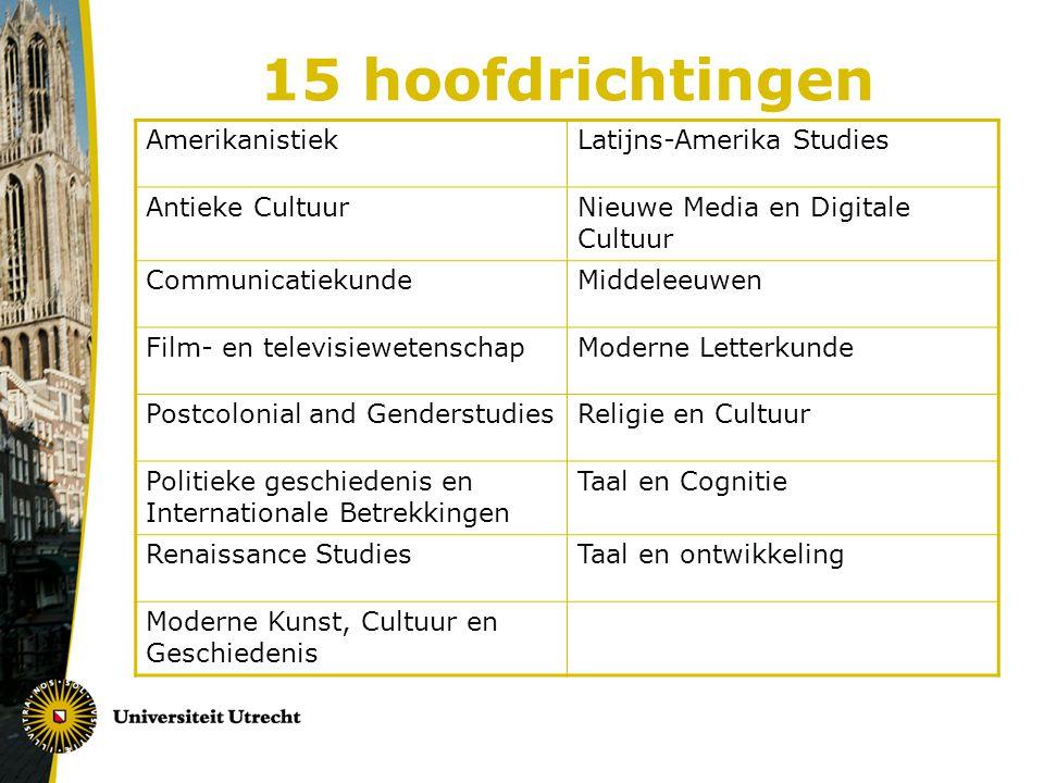 Hoofdrichting Studieprogramma: www.uu.nl/gw/tcs > studieprogramma 2012-2013 > hoofdrichtingenwww.uu.nl/gw/tcs Vanaf heden nieuwe studieprogramma online op site TCS Samenhangend pakket / verdieping & specialisatie Aansluiting op minimaal 1 Masteropleiding (doorstroom) Minimaal 2 vakken op niveau 3 + Eindwerkstuk + BCO Maak keuze uit nieuwe studieprogramma (cursussen staan vermeld op het registratieformulier per HR; uitzonderingen mogelijk via aanvraag examencommissie) Let op voorbereiding/ingangseisen HR Cursusaanbod Via HR informatie op site TCS > programma per HR Via informatie over profilering: cursusaanbod Bachelor > zoek per blok/niveau/school of ga nog naar website Bacheloropleiding Via Onderwijscatalogus UU (zie website Studiepunt: www.uu.nl/gw/studiepunt)www.uu.nl/gw/studiepunt Studieplanning Gebruik planningsformulier > www.uu.nl/gw/tcs > Studieprogramma > Formulierenwww.uu.nl/gw/tcs Hoofdrichtingsadviseurs www.uu.nl/gw/tcs > contact > Hoofdrichtingsadviseurswww.uu.nl/gw/tcs Enkele HRA's hebben extra spreekuren in mei en juni, andere gebruiken de reguliere afspraak/spreekuur momenten, check de site van TCS
