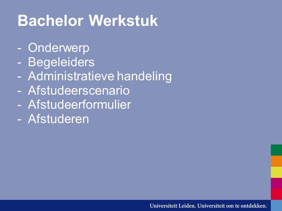 Onderwerp -Kies eventueel een specialisatie -Het werkstuk sluit aan bij een gevolgde cursus in het 2e of 3e jaar