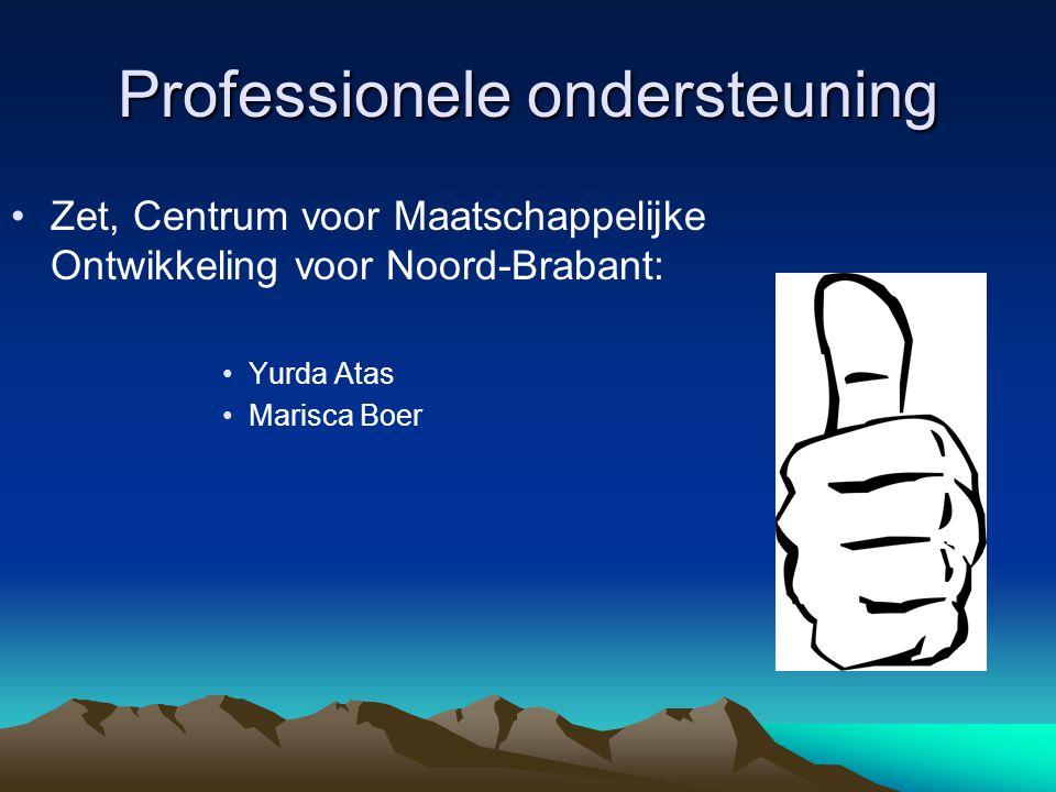 Professionele ondersteuning Zet, Centrum voor Maatschappelijke Ontwikkeling voor Noord-Brabant: Yurda Atas Marisca Boer