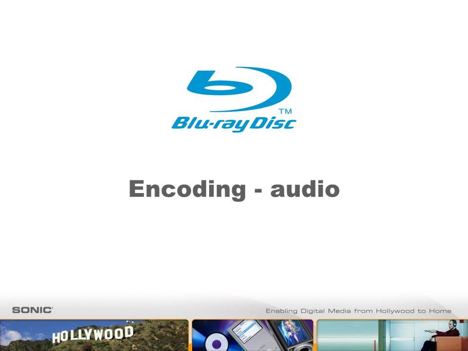 Encoding - audio
