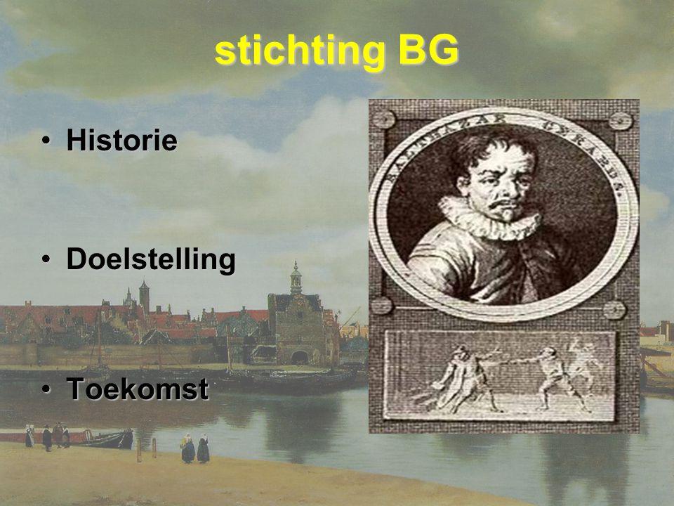 stichting BG HistorieHistorie DoelstellingDoelstelling ToekomstToekomst