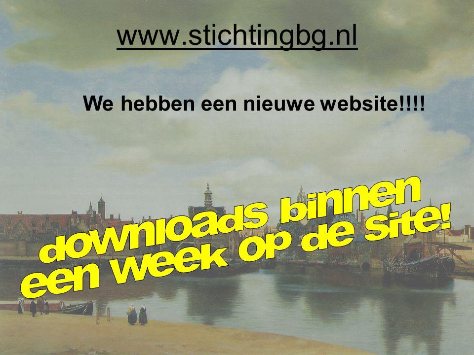 www.stichtingbg.nl We hebben een nieuwe website!!!!