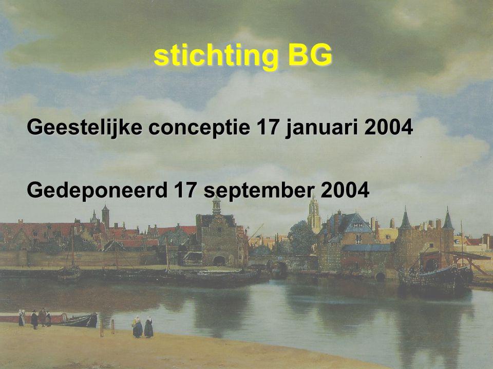 stichting BG Geestelijke conceptie 17 januari 2004 Gedeponeerd 17 september 2004