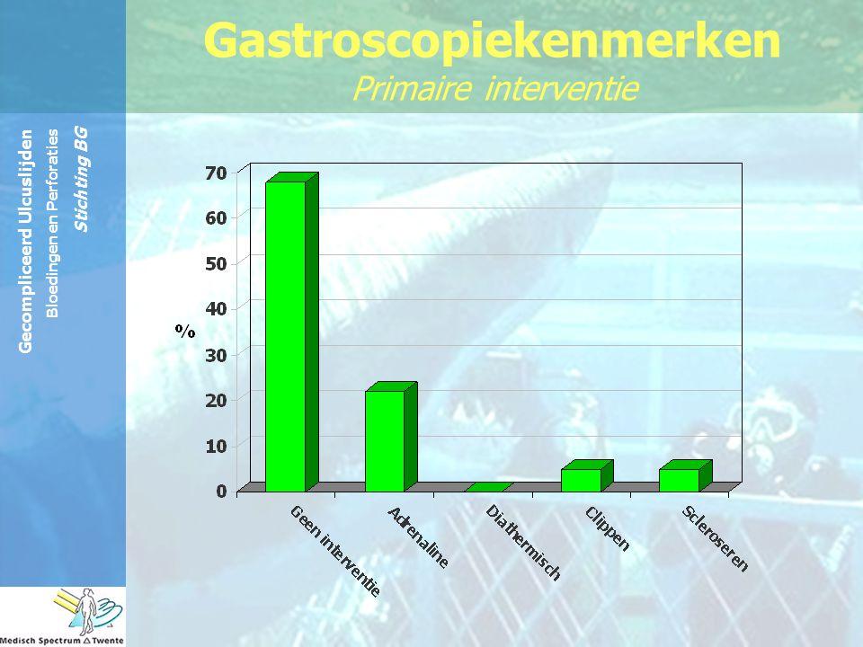 Gecompliceerd Ulcuslijden Bloedingen en Perforaties Stichting BG Gastroscopiekenmerken Primaire interventie