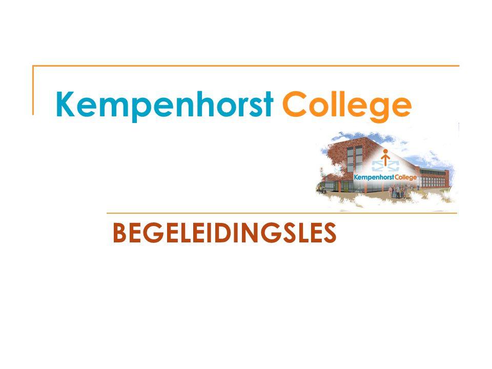 Kempenhorst College BEGELEIDINGSLES