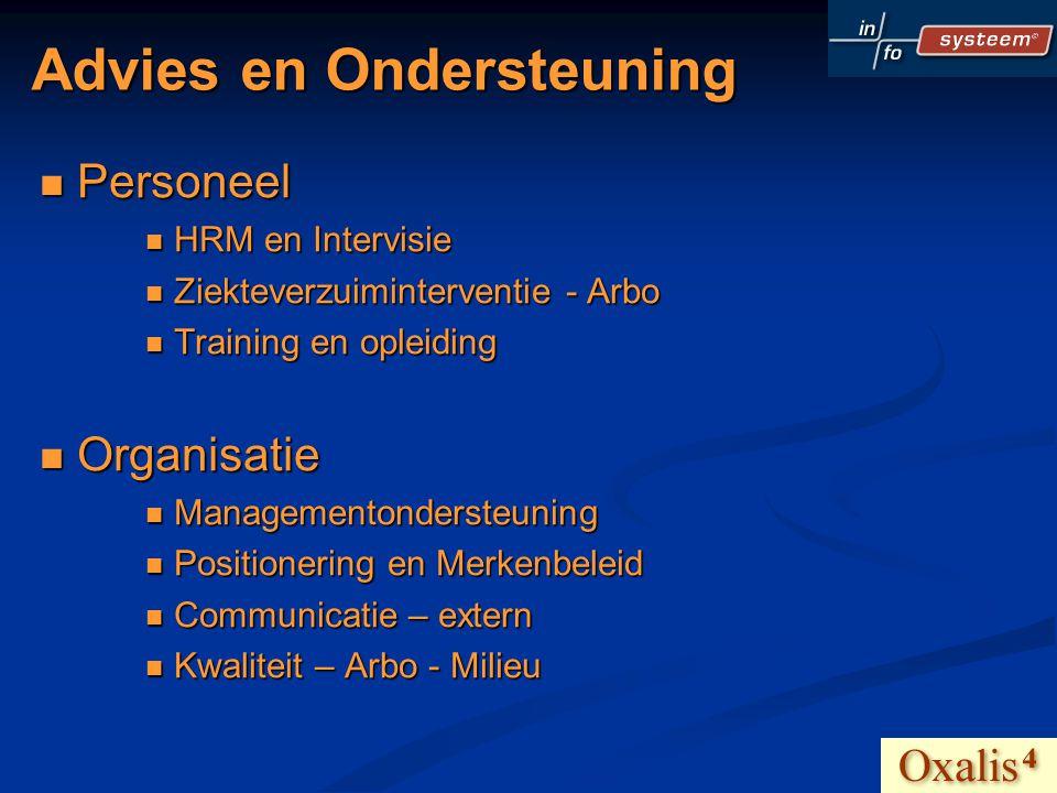 Advies en Ondersteuning Personeel Personeel HRM en Intervisie HRM en Intervisie Ziekteverzuiminterventie - Arbo Ziekteverzuiminterventie - Arbo Traini
