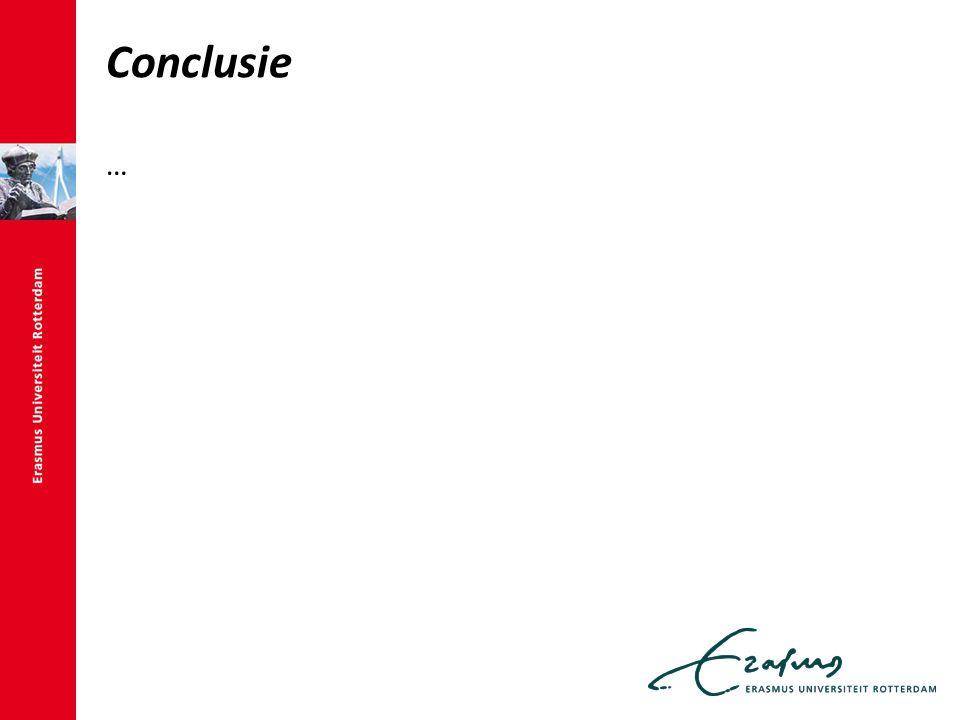 Conclusie …
