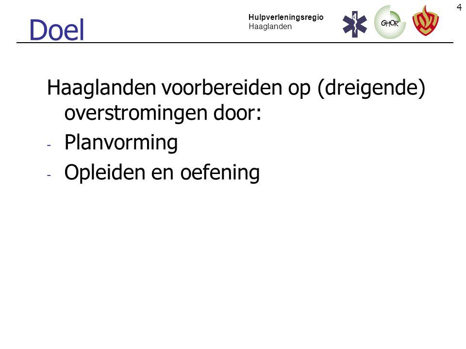 5 Hulpverleningsregio Haaglanden Organiseren van voorbereiding: hoe.