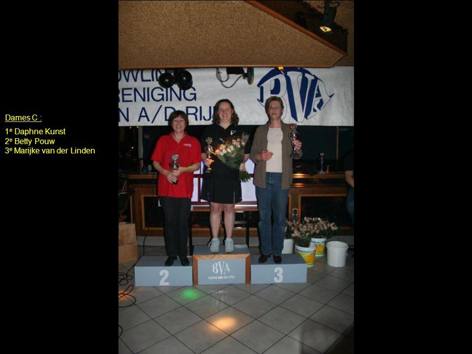 Dames C : 1 e Daphne Kunst 2 e Betty Pouw 3 e Marijke van der Linden