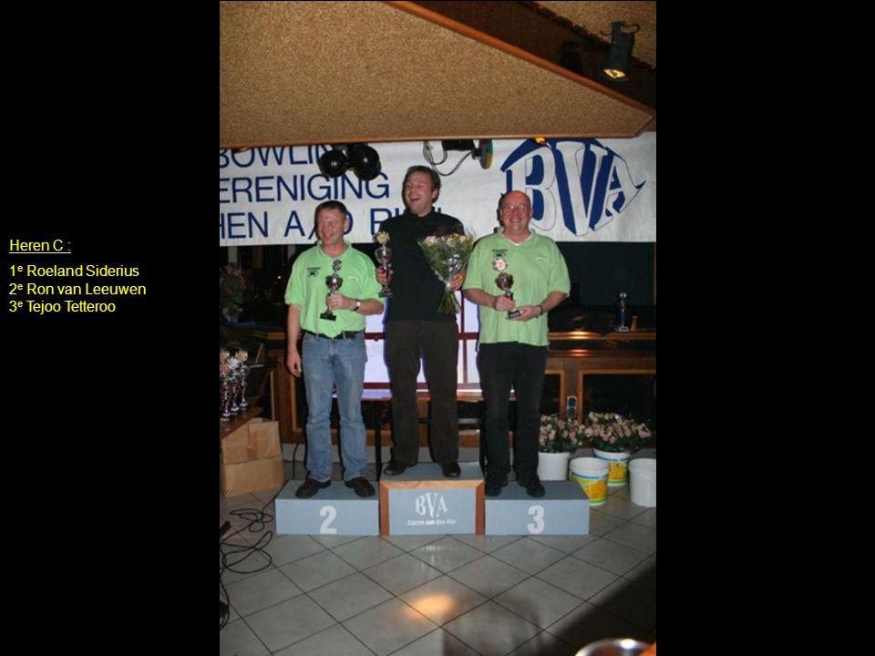 Heren C : 1 e Roeland Siderius 2 e Ron van Leeuwen 3 e Tejoo Tetteroo