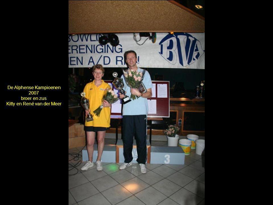 De Alphense Kampioenen 2007 broer en zus Kitty en René van der Meer