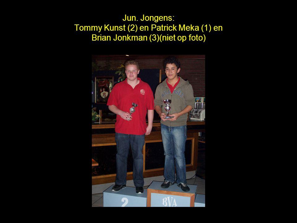 Jun. Jongens: Tommy Kunst (2) en Patrick Meka (1) en Brian Jonkman (3)(niet op foto)