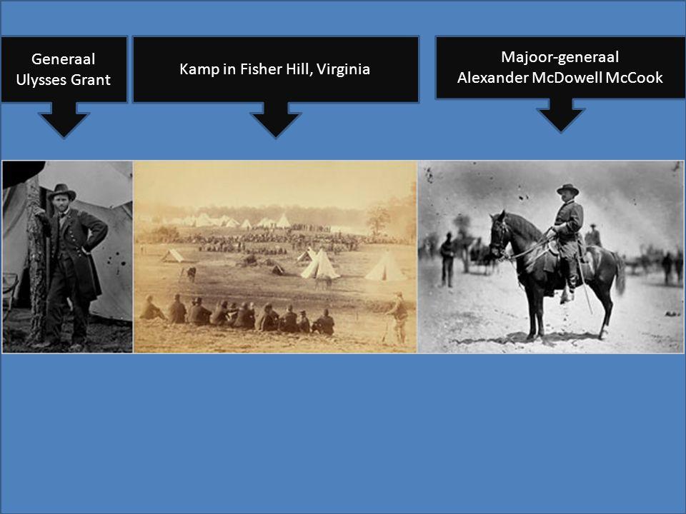 Kamp in Fisher Hill, Virginia Generaal Ulysses Grant Majoor-generaal Alexander McDowell McCook