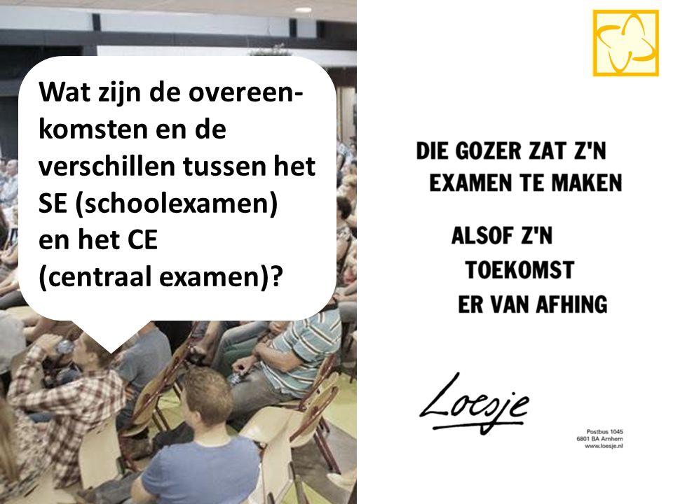 Wat zijn de overeen- komsten en de verschillen tussen het SE (schoolexamen) en het CE (centraal examen)? 11