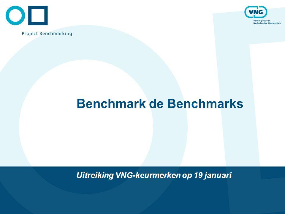 Benchmark de Benchmarks Uitreiking VNG-keurmerken op 19 januari